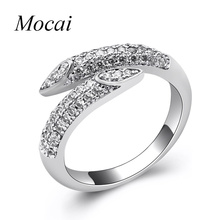 Fashion Simple Nail Rings For Women Micro Pave Cubic Zirconia Easy Matching Modern Luxury brand jewelry Black/Gold/silver ZK50