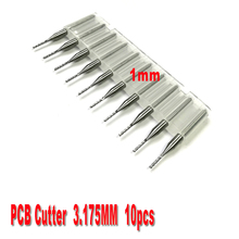 free shipping 10pcs 1.0mm PCB end mills Carbide Tools, CNC Cutting Bits, Millinging Cutters Kit for Engraving Mill Machine
