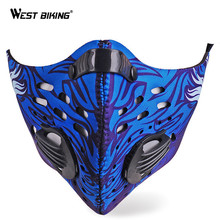 WEST BIKING Option Pro Cycling Mask Breathable Windproof Bicycle Face Marks Activated Carbon Masks Cycling Training Mark PM 2.5