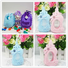 Baby Shower Souvenirs 24pcs/lot Baby Shower Baptism Favor Bag Kids Birthday Christening Party Gift Packing Chocolate Bags