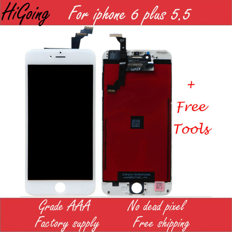 10PCS AAA Quality Complete Full LCD for iPhone 6 plus LCD Display Digitizer Replacement+Temper Glass No Dead Pixel DHL free Ship<br>