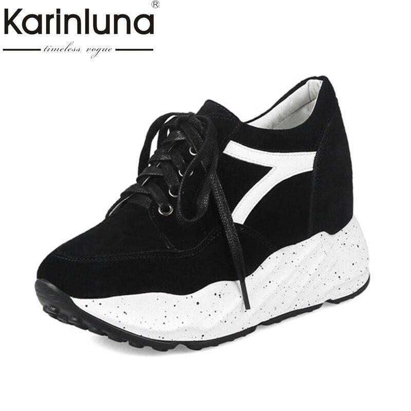 KarinLuna 2018 fashion sneakers Women Shoes Woman Vintage Lace Up Round Toe Platform Sport Shoes Size 34-39<br>