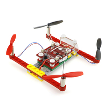 Mini DIY Building Block RC Drone Dron RTF 2.4GHz 4CH 6-Axis Gyro Helicopter Beginner Level Indoor Quadcopter(China)