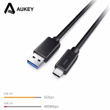 Aukey 2PCs USB Type C Cable USB 3.0 to USB C (Type C) 3.1 & Charging Cable for Samsung Nexus Nokia LG HTC Xiaomi USB cable