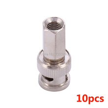 10pcs Twist on BNC Male RG59 Connector 6 angle Plug Adapter for Coax Cable Connector Adapter F/M CCTV cameras Accessories(China)