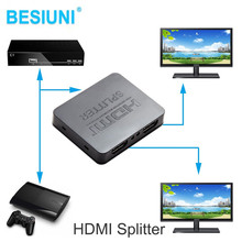 HDCP 4K HDMI Splitter Full HD 1080p Video HDMI Switch Switcher 1X2 Split 1 in 2 Out Amplifier Dual Display For HDTV DVD PS3 Xbox(China)