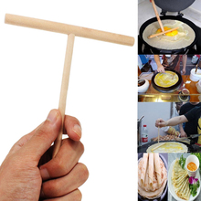 T Shape Chinese Specialty Crepe Maker Pancake Batter Wooden Spreader Stick Home Kitchen Tool DIY Supplies 1 Pcs(China)