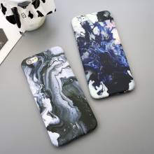 Newest Marble Stone Image Painted Phone Cases For Iphone 5 5s / 6 6s Plus Hard Cover Case Graffiti Mobile Protector Bag Fundas