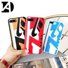 Fashion Us Street Trend 3D Shoes Air Dunk Jordan Phone Case iPhone 7 7Plus 8 8Plus Cover Cases iPhone X 10 6s 6 6Plus