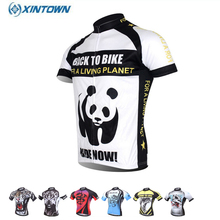XINTOWN Team Panda Summer Cycling Sportswear Bicycle Bike Outdoor Jersey Breathable Short Sleeve Shirts S-4XL