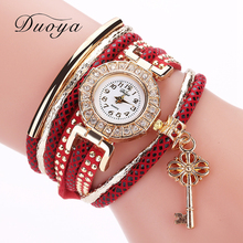 Ladies Watches 2017 Fashion Girl Diamond Chic Circle Flower Key Chain Pendant Watch relogio feminin ode luxo