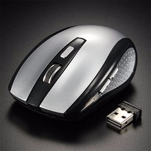 2.4GHz Wireless Mouse USB Optical Mouse 1200DPI 5 Button USB Receiver Min Gaming Mouse PC Gamer Mice For Laptop Computer(China)
