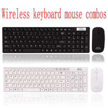 Computer wireless keyboard and mouse 2 in 1 combos super slim keyboard mini PC mouse and small USB receiver