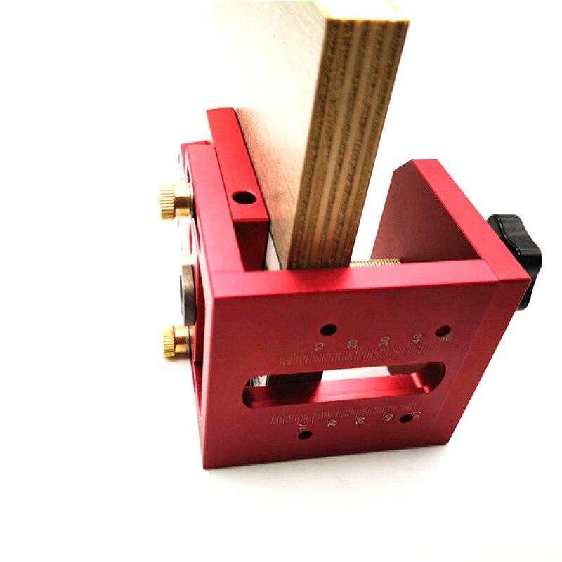 Obliqua Buco Locator Aggiornati Fori Alluminio Pocket Hole Jig Kit Perforazione Guida Utensili Per La Lavorazione Del Legno Fai Da Te