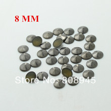 Hot Fix Studs 8mm 200pcs/lot gun black Punk Rock Cone Studs and Spikes DIY iron Rivet For Clothing Set  star15