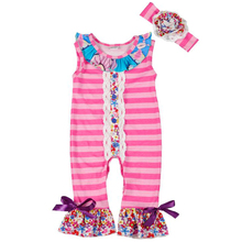 CONICE NINI New Arrival Newborn Rompers Toddler Baby Girl Striped Jumpersuit Rompers Cotton Outfits Clothes GPF712-020