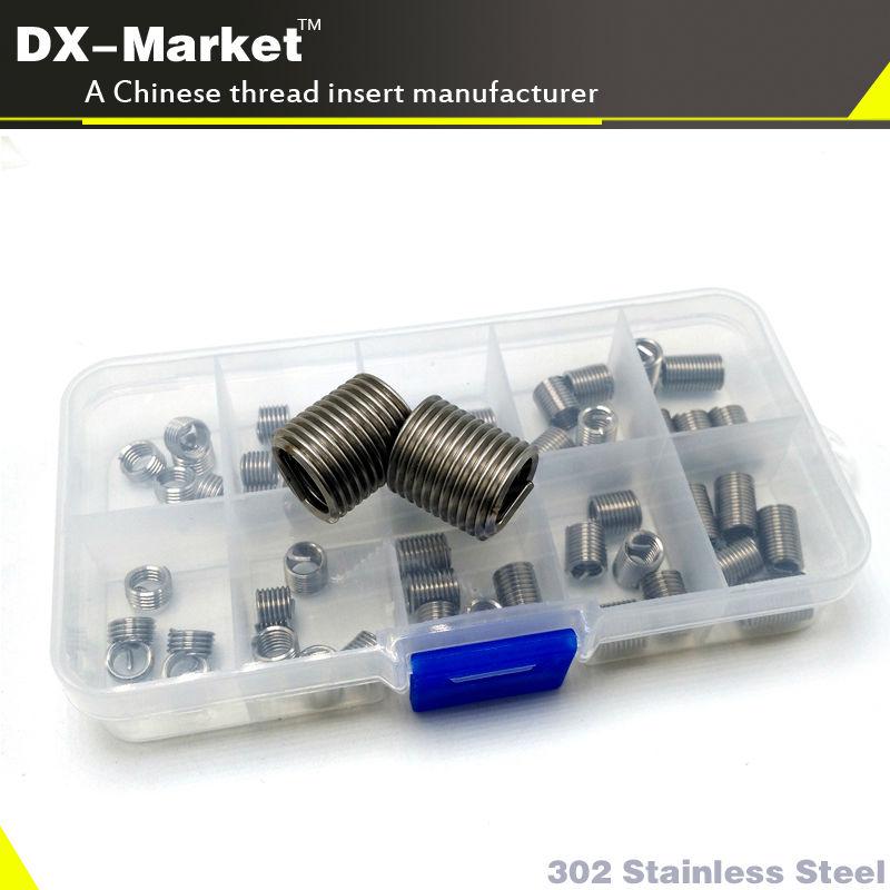 m12 *1.5P , 50pcs , 1d 1.5d 2d 2.5d 3d  each 10pcs  304 stainless steel bolt thread inserts , thread repair kit<br>