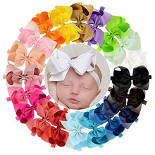 20pcs/lot 6 Inch Solid Headband With Elastic Boutique For Kids Girls Hair Accessories Boutique Hairband 665(China)