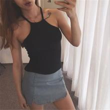 Summer Off Shoulder Knitted Bustier Crop Top Women Round Neck Elastic Tube Tank Tops Knit Beach Sexy Camis Crop Tops 6 Colors(China)