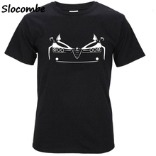 Buy Tshirt Funny Short Sleeve Cotton Plus Size T Shirt Men's Alfa Romeo 75 Milano Turbo Evoluzione Rosso T-Shirt Top Clothes for $8.68 in AliExpress store