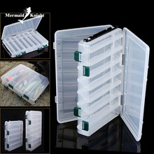 MK Brand New Fishing Tackle Box Fishing Lure Box 2 Size  Double Sided Spinner Bait  Popper Minnow Box Lure For Fishing