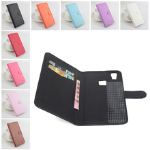 Pure Color Left Right Litchi Texture Flip PU Leather Cover Case for Doogee X5 Max Sticky Case + Card Slot & Stand Wallet