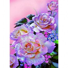 5D Bouquet Roses Pictures Resin Products diy diamond embroideri flower diamond mosaic kits beadwork Rhinestone Creative Gift