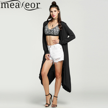 Meaneor Women kimono Long Cardigan Casual female outwear Black 11 colors Crochet Long sleeve Knitted Tops Ladies long Sweaters(China)