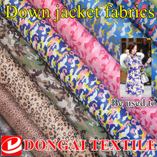 Sold By Meter,Camo Print Down-Proof Material For Trench Coat  leopard print Camouflage Down Jacket Fabric