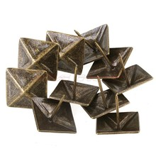 10PCS antique red/bronze nail square tapered interior upholstery nail spikes square stud Furniture/sofa/Retro nail 30x30mm