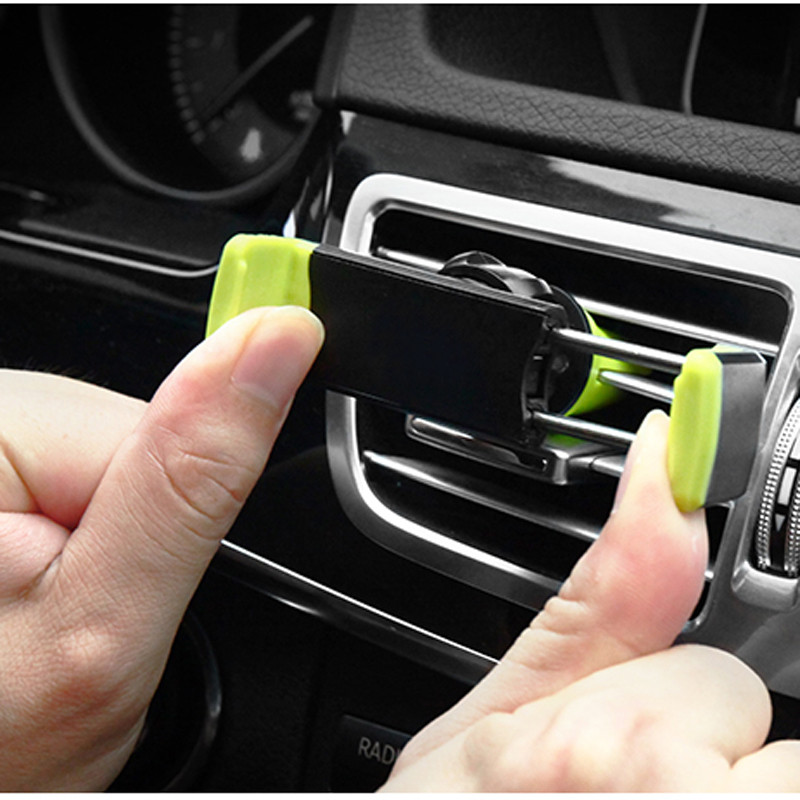 Car Mobile Phone Holder Air Vent Monut Holder Stand Universal 360 Degree Adjustable Car Clip For iPhone X 8 7 5 SE 6 6S Plus (18)