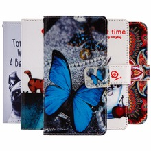 "GUCOON Cartoon Wallet Case for Lenovo Vibe C2 K10A40 5.0"" Fashion PU Leather Lovely Cool Cover Cellphone Bag Shield"