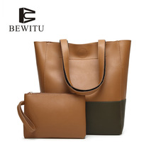 BEWITU Fashion Patchwork Composite Bag Big Capacity Female Handbags Wonderful Woman Bucket Bags Large Tote Bag Factory Price(China)
