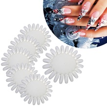 Nail Art Stickers Rhinestone Make Up Nail Stamping Plates Gel Nail Set Practice Round Wheel Polish Acrylic Display Maquiagem