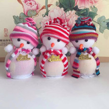 3 Pcs/Lot Lovely Hot Sale! Exclusive Christmas Decoration Snowman Apple bag Doll Christmas  Children's Gift Tiny Toy New Year