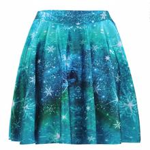 Green Galaxy Women Sexy Pleated Skirts Tennis Bowling Bust Shorts Skirts Europe New Girls Fitness Sport Apparel A Style Skirts