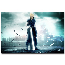 Cloud Strife - Final Fantasy VII Art Silk Fabric Poster Print 13x20 24x36 inch Hot Game Pictures for Living Room Wall Decor 037