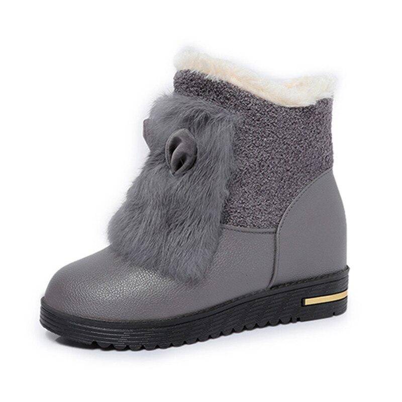 Cute Rabbit Ears Fashion Women Snow Boots Platform Warm Fur Women Winter Boots Waterproof Shoes X1027 35<br><br>Aliexpress