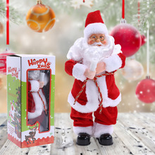 Christmas Decorations for Home Dancing Singing Santa Claus Electric Christmas Toys Christmas Ornament Party Decor(China)