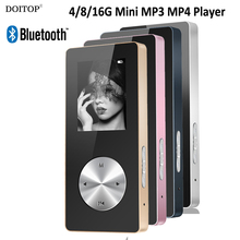 DOITOP 16G Bluetooth MP3 MP4 Player Metal Hifi Music Sport Mini Walkman MP4 Player With Speaker Support TF Card FM Recorder O5(China)