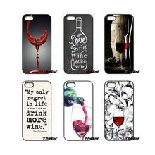 For Moto E E2 E3 G G2 G3 G4 G5 PLUS X2 Play Nokia 550 630 640 650 830 950 Red Wine Glass Pattern Art Mobile Phone Case Cover(China)