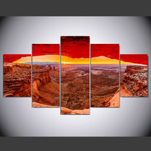 5 panel Modern Utah Canyon hd Art print canvas art wall framed paintings for living room wall picture ny-1097(China)