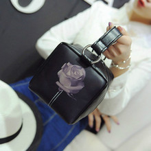 Pu Leather  Box Handbag Small Leisure Bags Rose Printing  Bag Handbag Crossbody Bag BB5170205