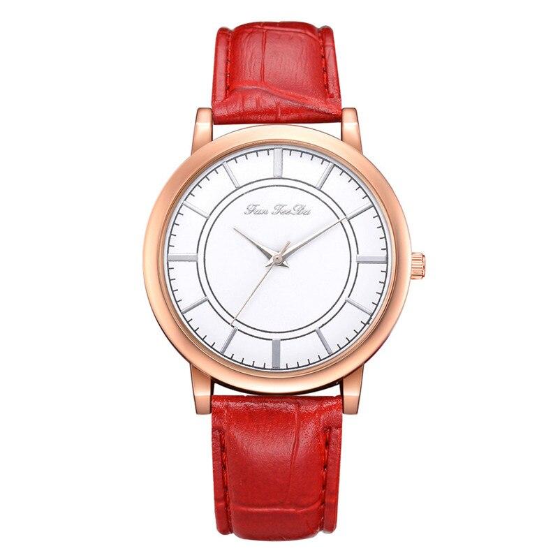 2018 High Quality women fashion casual watch luxury dress ladies  Analog Quartz Leather bands Wrist Watch clock Relogio Y11 (1)