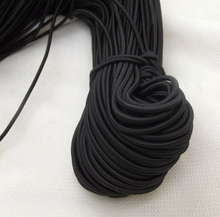 Free Shipping! High Quality 3MM With 100M Black Round Elastic Band Stretch Rope Bungee Cord Strings DIY Hair Accessories