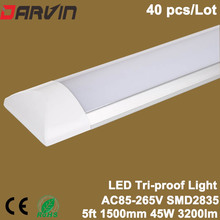 Led Cleaning Purification Light 5ft 45W 1500mm  Led Tri-proof Batten Light Led Tube AC85-265V 110V 220V Linear Lamp