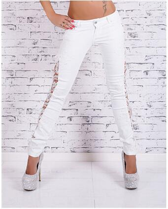 European and American style cotton lace women jeans fashion plus size boyfriend jeans hollow out pencil cowboy denim pants D33 Одежда и ак�е��уары<br><br><br>Aliexpress