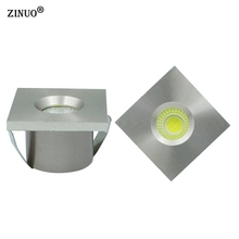 ZINUO 10pcs/Lot Mini COB 3W Led Downlight Led Recessed Cabinet Spot light Jewelry exhibition Display Counter lamp AC110V 220V