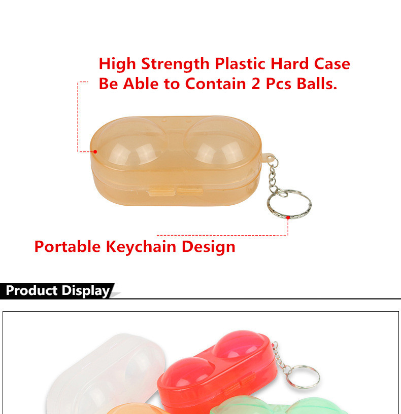 Huieson Table Tennis Ball Container Box Hard Plastic Case Ping Pong Ball Storage Box with Keychain Table Tennis Accessories (1)