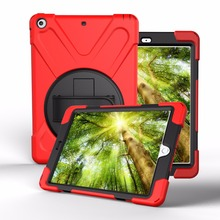 Shockproof Kids Protector Case For iPad 9.7 New 2017 A1822 A1823 Heavy Duty Silicone Hard Cover kickstand design Hand bracel+Pen(China)